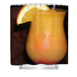 Shower Curtain featuring the photograph Caribbean Fuzzy Peach Naval by Emmy Marie Vickers