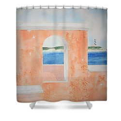 Caribbean Guard Shower Curtain by Jeff Lucas