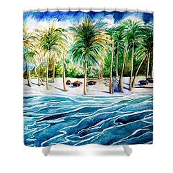 Caribbean Harbor Shower Curtain