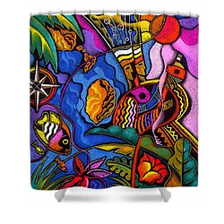 Caribbean Shower Curtain by Leon Zernitsky