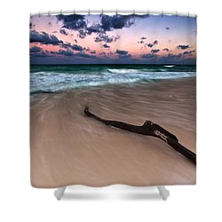 Shower Curtain featuring the photograph Caribbean Sunset by Mihai Andritoiu