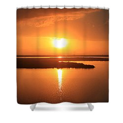 Shower Curtain featuring the photograph Caribbean Sunset by Milena Ilieva