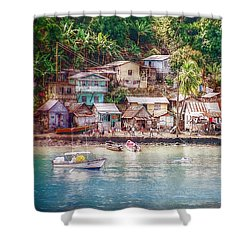 Shower Curtain featuring the photograph Caribbean Village by Hanny Heim