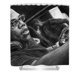 Carl Cox Pencil Drawing Shower Curtain