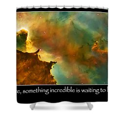 Carl Sagan Quote And Carina Nebula 3 Shower Curtain