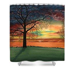 Carla's Sunrise Shower Curtain