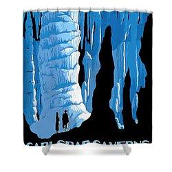 Carlsbad Caverns National Park Vintage Poster Shower Curtain