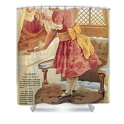 Shower Curtain featuring the photograph Carlvert's Carbolic Tooth Powder Ad by Gianfranco Weiss