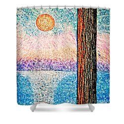Carmel Highlands Sunset Shower Curtain by Joseph J Stevens