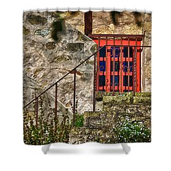 Carmel Mission 10 Shower Curtain by Ron White
