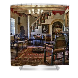 Carmel Mission 6 Shower Curtain by Ron White
