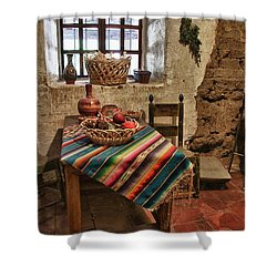 Carmel Mission 7 Shower Curtain by Ron White