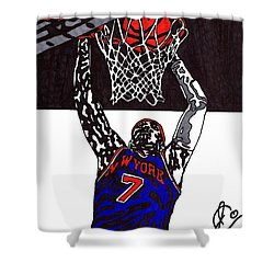Carmelo Anthony Shower Curtain by Jeremiah Colley