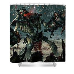 Carnage Gladiator Shower Curtain