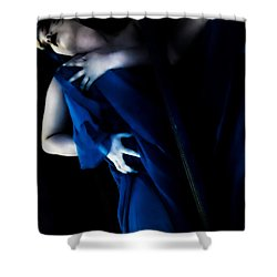 Carnal Blue Shower Curtain