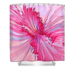 Carnation Pink Shower Curtain by Anastasiya Malakhova
