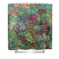 Carnations And A Rose Shower Curtain