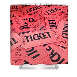 Carnaval Ticket Shower Curtain