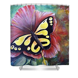 Carnival Butterfly Shower Curtain