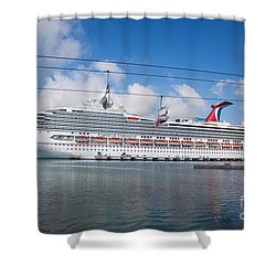 Carnival Conquest Shower Curtain by Rene Triay Photography