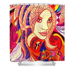 Carnival Girl Shower Curtain