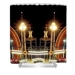Carnival Light Patterns At Night Shower Curtain