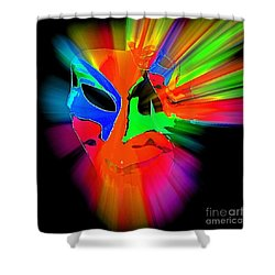 Carnival Mask In Abstract Shower Curtain
