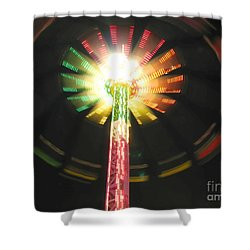 Carnival Ride At Night Shower Curtain by Connie Fox