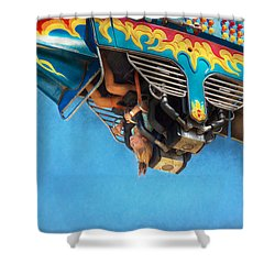 Carnival - Ride - The Thrill Of The Carnival  Shower Curtain by Mike Savad