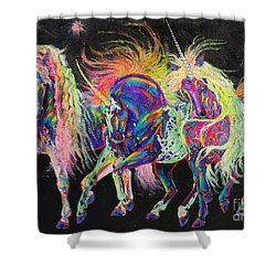 Carnivale Shower Curtain by Louise Green