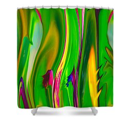 Carnivorous Shower Curtain by Betty Depee
