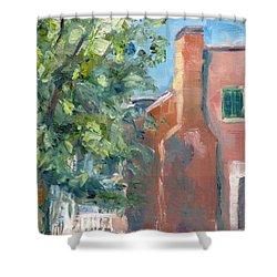 Carnton Plantation On A Spring Morning Shower Curtain by Susan E Jones