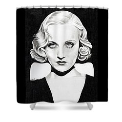 Carole Lombard Shower Curtain by Fred Larucci