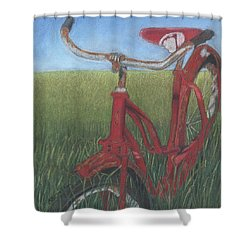 Carole's Bike Shower Curtain