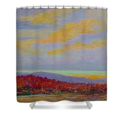 Carolina Autumn Sunset Shower Curtain