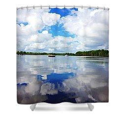 Carolina Blue- Washington Nc Shower Curtain