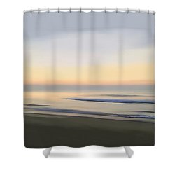 Shower Curtain featuring the digital art Carolina Morning Glory by Anthony Fishburne