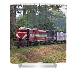 Carolina Southern Railroad Shower Curtain