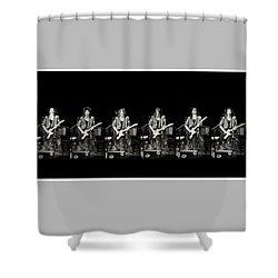 Carolyn Wonderland Rockin' Shower Curtain by Darryl Dalton