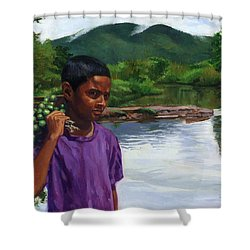 Caroni Chennette Shower Curtain by Colin Bootman