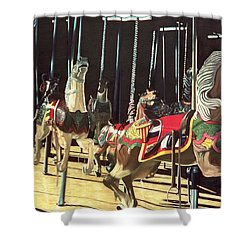 Carousel Shower Curtain by Anthony Butera