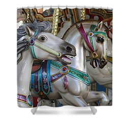 Carousel Shower Curtain by Donna Walsh