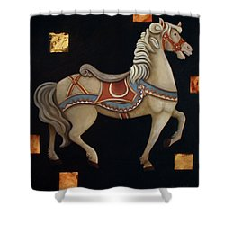 Carousel Horse Shower Curtain by Gerry High