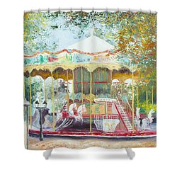 Carousel In Montmartre Paris Shower Curtain