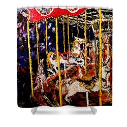 Carousel  Main Attraction  Shower Curtain by Mark Moore