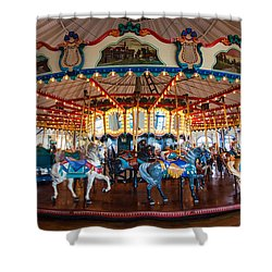 Shower Curtain featuring the photograph Carousel Ride by Jerry Cowart