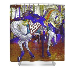 Carousel Steed Shower Curtain