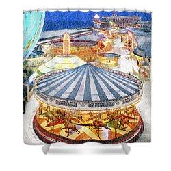 Carousel Waltz Shower Curtain