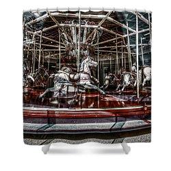 Carousel Shower Curtain by Wayne Sherriff