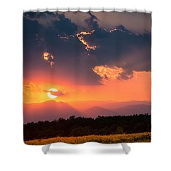 Shower Curtain featuring the photograph Carpathian Sunset by Mihai Andritoiu